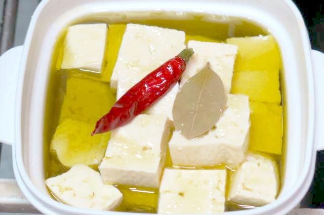 豆腐 オリーブオイル