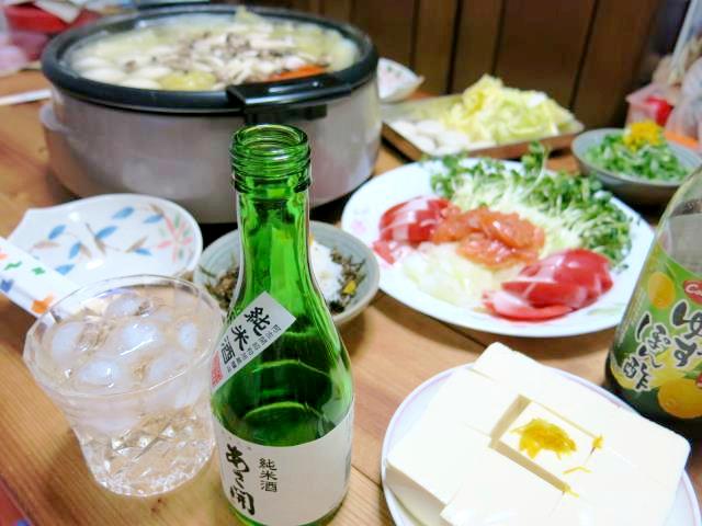 晩ご飯 水炊き 鍋