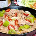 スキレットで簡単調理!子供も大好き「豚肉のケチャップ炒め煮」