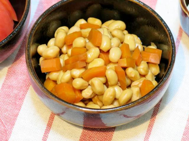 大豆煮 晩ご飯