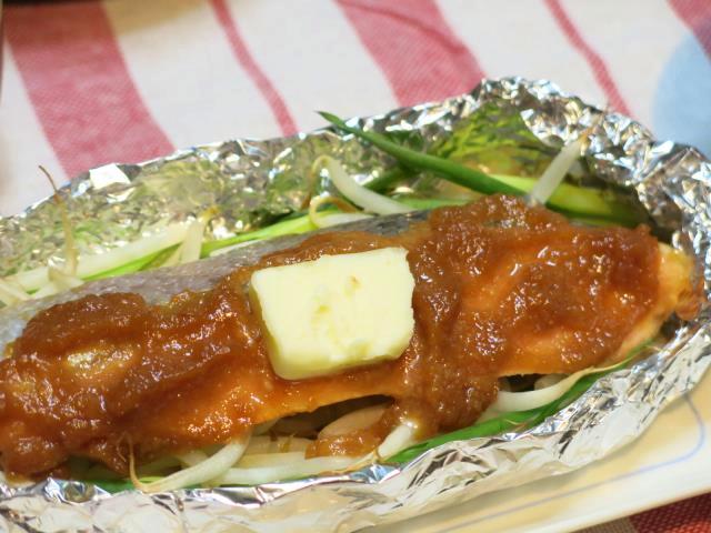 鮭ホイル焼き 晩ご飯