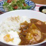 「たっぷり胡麻の味噌鍋」の残りをリメイク!「ゴロゴロ野菜の濃厚カレーライス」