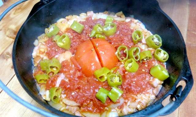 トマトご飯 ダッチオーブン
