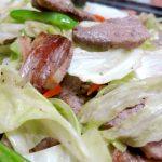 手軽にホットプレートで!「牛バラ肉と野菜の炒め物」