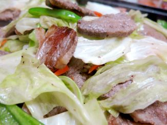 ホットプレート 野菜炒め