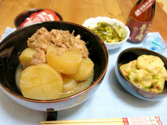 晩ご飯 鶏と大根の煮物