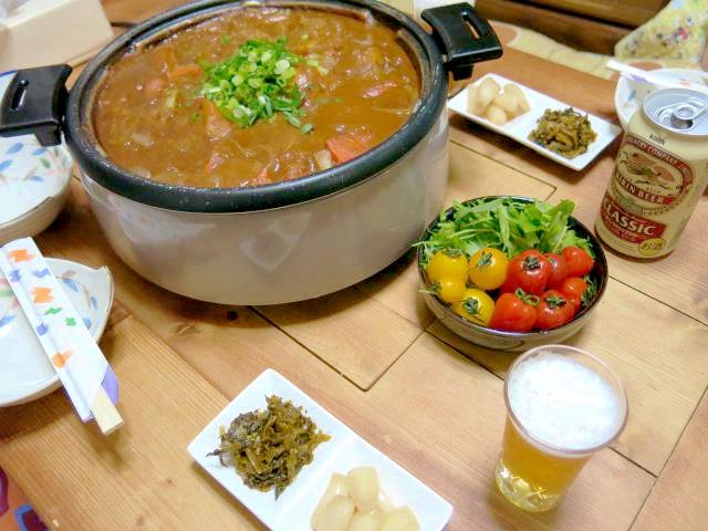 晩ご飯 和風カレー鍋