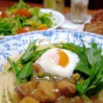 合鴨鍋の残りをリメイク!「和風親子パスタ(柚子風味)」 鶏肉を使った鍋でも応用可!