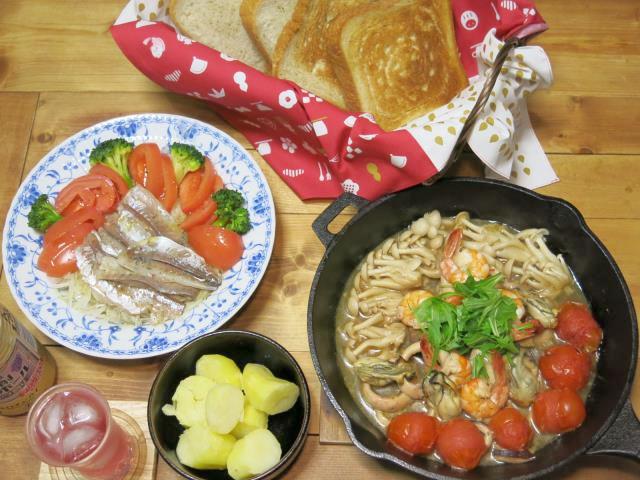 晩ご飯 和風アクアパッツァ