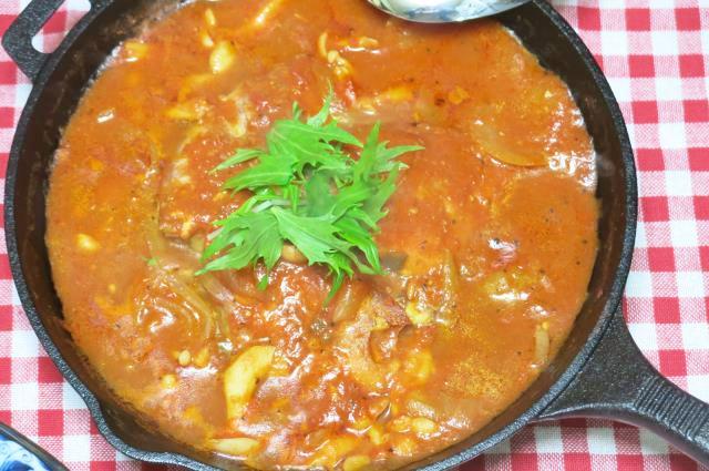 赤魚トマトソース スキレット