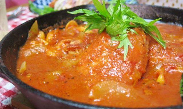 赤魚のトマトソース スキレット