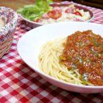 簡単手作りミートソースパスタと、イタリアンなポテトサラダ