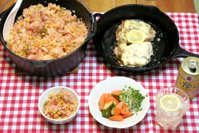 ダッチオーブン トマトご飯