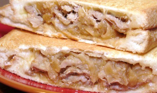 豚の生姜焼き ホットサンド